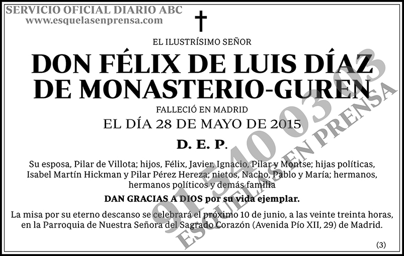 Félix de Luis Díaz de Montasterio-Guren